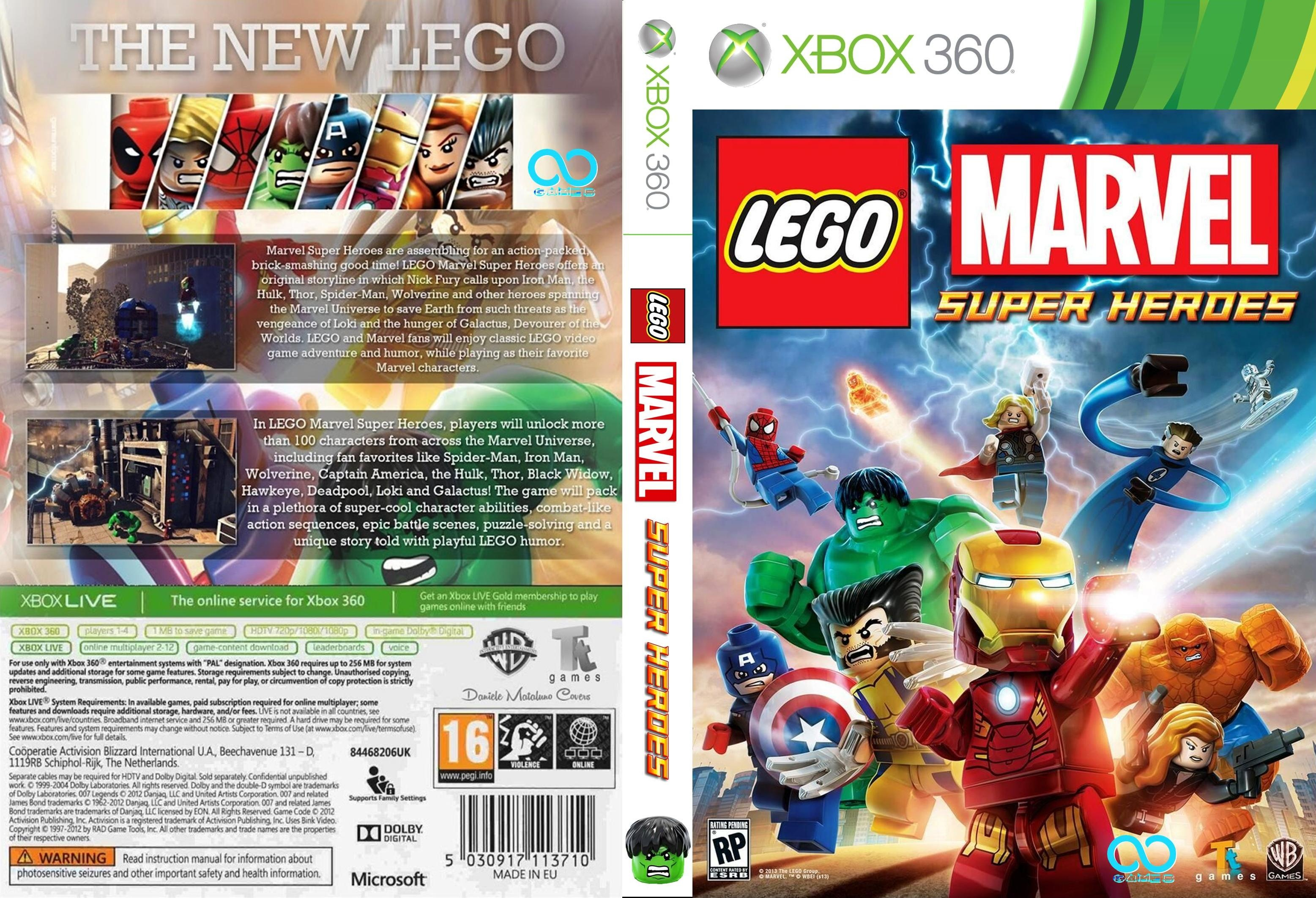 Xbox 360 Marvel Super Heroes Wiring Diagrams Diagram Powersupplycircuit Microswitchingpowersupplycircuit Lego Box Art Cover By Juan666 Rh Vgboxart Com