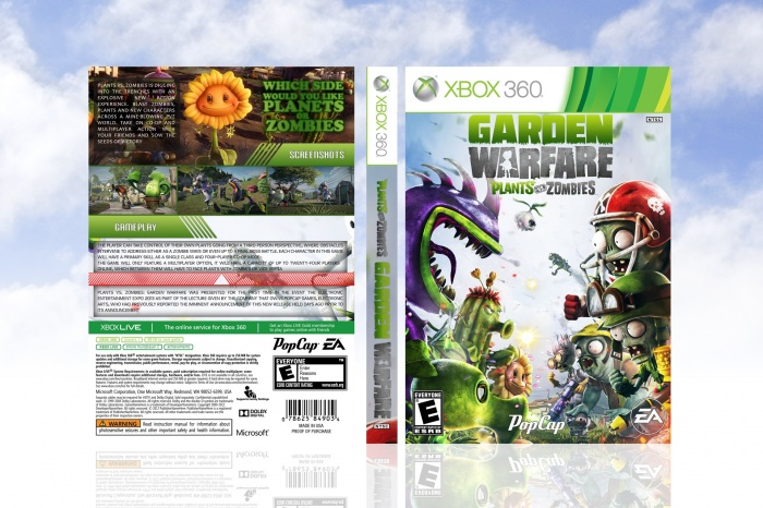 Plants Vs Zombies Garden Warfare Xbox 360 Box Art Cover By Looop