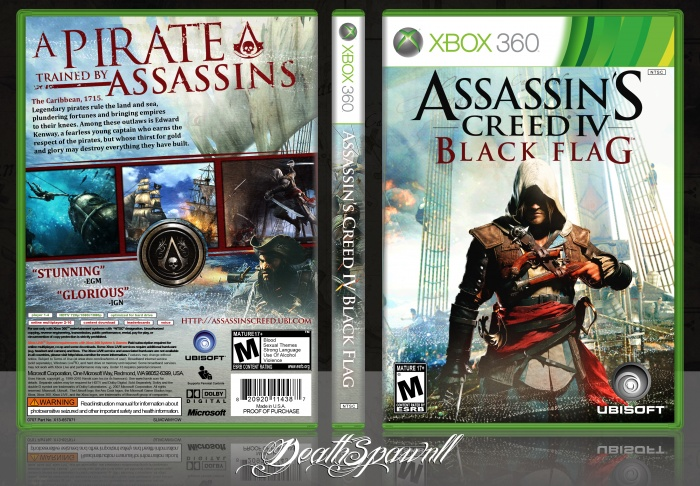Assassin S Creed Iv Black Flag Xbox 360 Box Art Cover By Deathspawn11