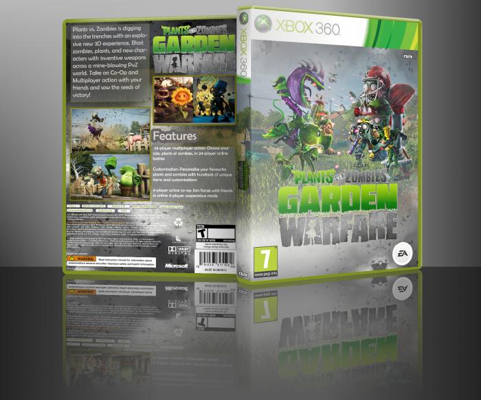Plants Vs Zombies Garden Warfare Xbox 360 Box Art Cover By Alfered Sphinx