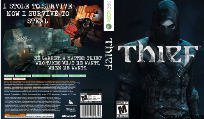 Book Cover Diy Xbox One : Thief xbox box art cover by theif