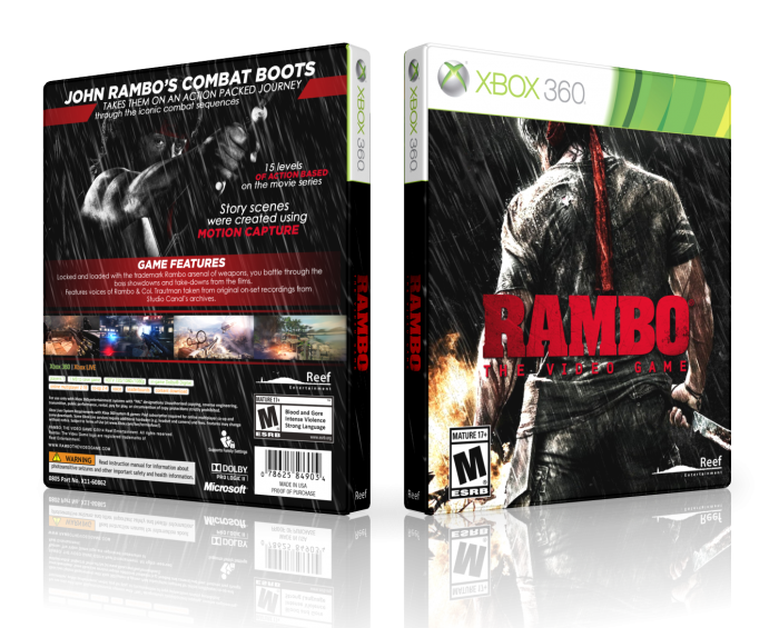 Book Cover Diy Xbox One : Rambo the video game xbox box art cover by lastlight