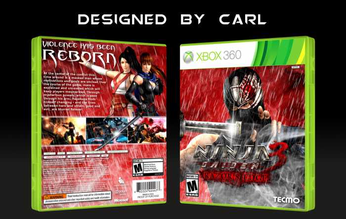 Ninja Gaiden 3 Razor S Edge Xbox 360 Box Art Cover By Carlj1497