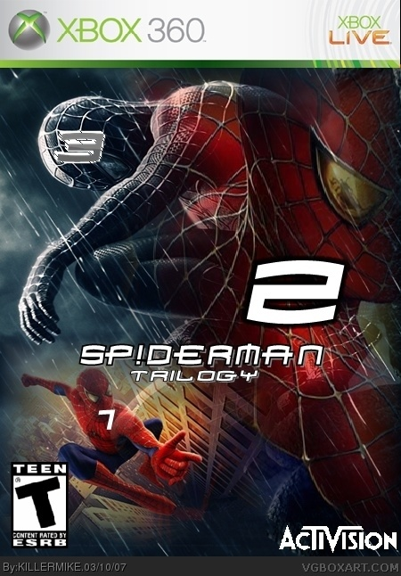 SpiderMan Trilogy Xbox 360 Box Art Cover By KILLERMIKE
