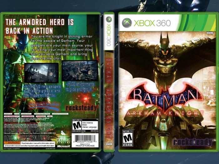 Batman Arkham Knight Xbox 360 Box Art Cover by Rolyat