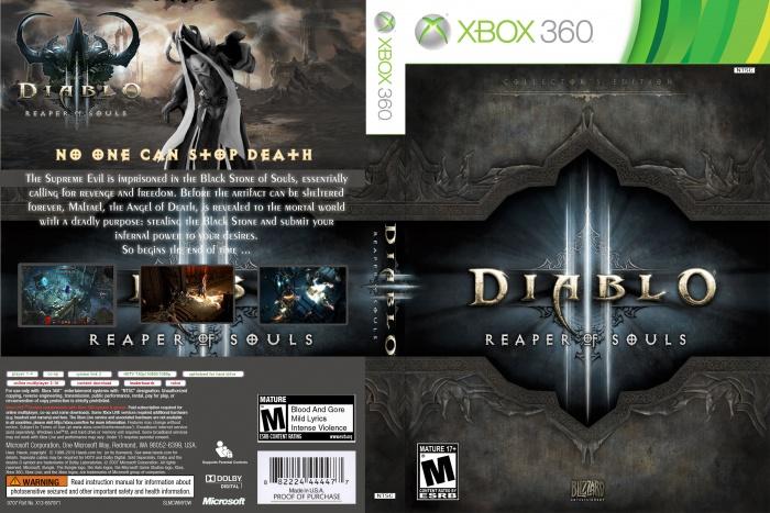 Diablo 3: Reaper Of Souls Xbox 360 Box Art Cover by lucasdelim2010