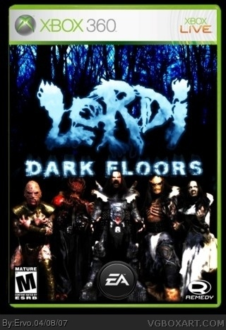 Lordi: Dark Floors Xbox 360 Box Art Cover by Ervo Xbox 360 Game Cover Template Print