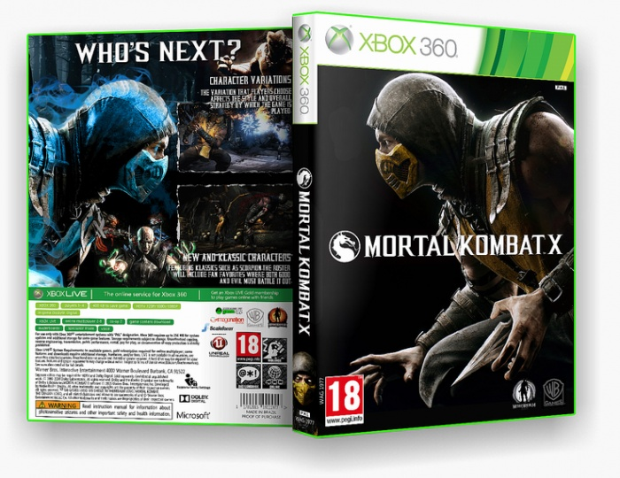 Mortal Kombat X Xbox 360 Box Art Cover By Wellyson