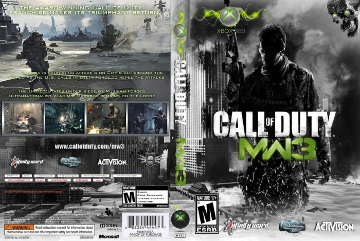 Call Of Duty Modern Warfare 3 Xbox 360 Box Art Cover By Mohsen Xbox