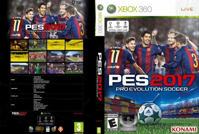 Pro Evolution Soccer 2017 Xbox 360 Box Art Cover by LinkModz