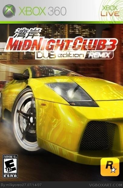 Midnight Club 3 Xbox 360 Box Art Cover by milkyoreo27