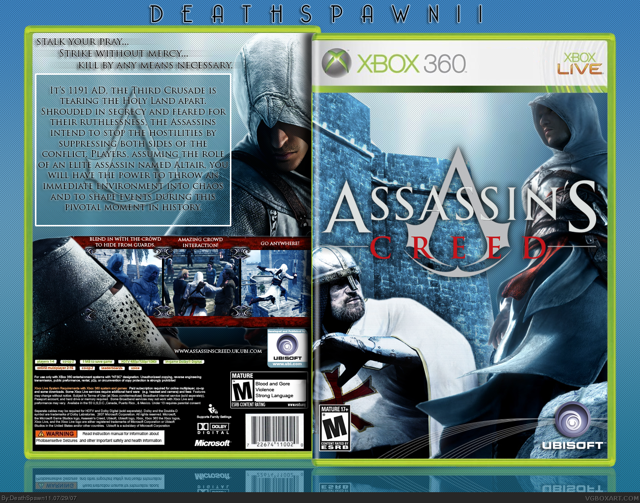 assassins creed xbox 360 box art cover by deathspawn11