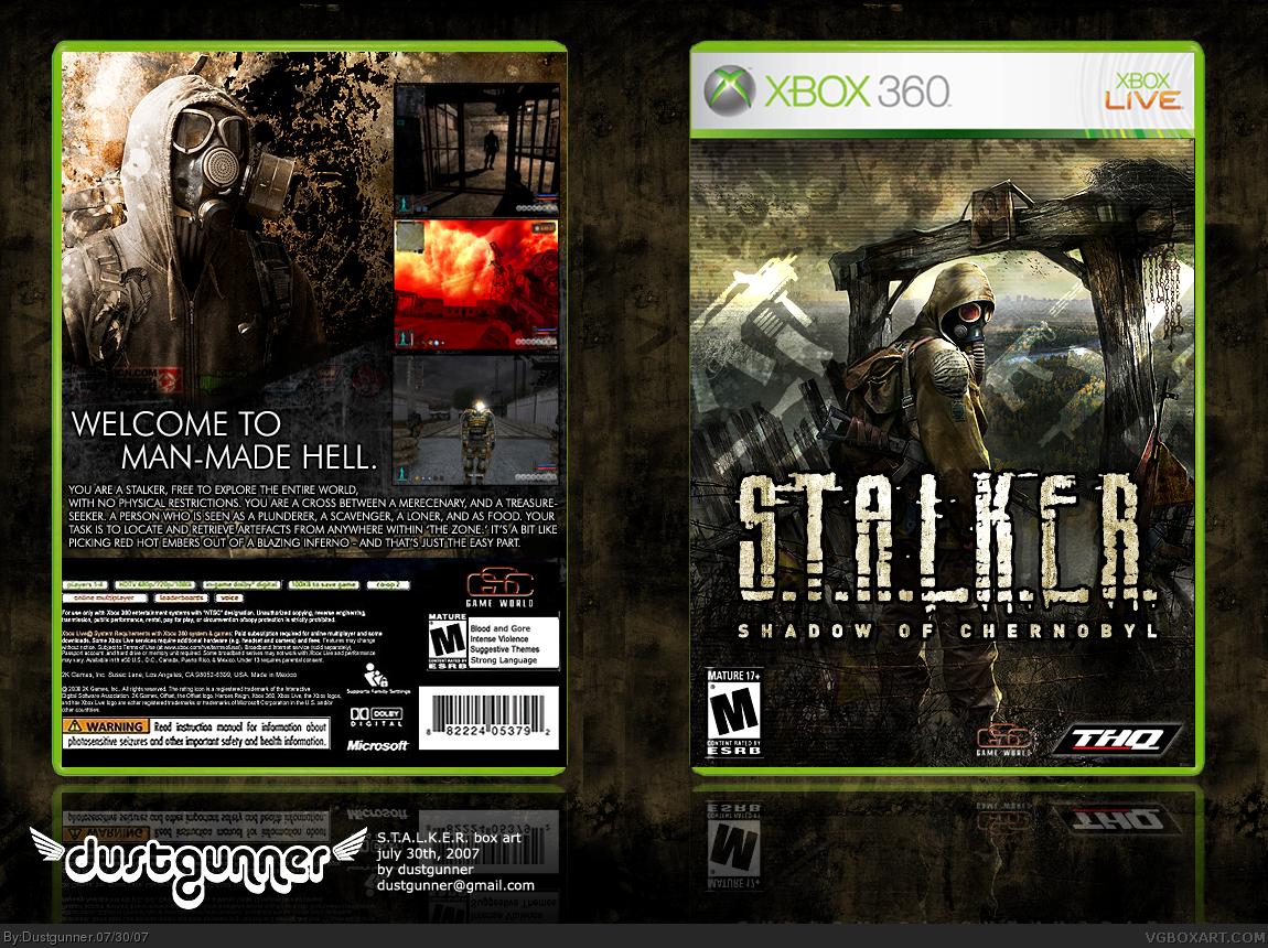 S T A L K E R  Shadow Of Chernobyl Xbox 360 Box Art Cover