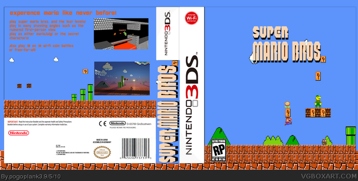 Super Mario Bros Lost Levels Nintendo 3ds Box Art Cover By Pogoplank3