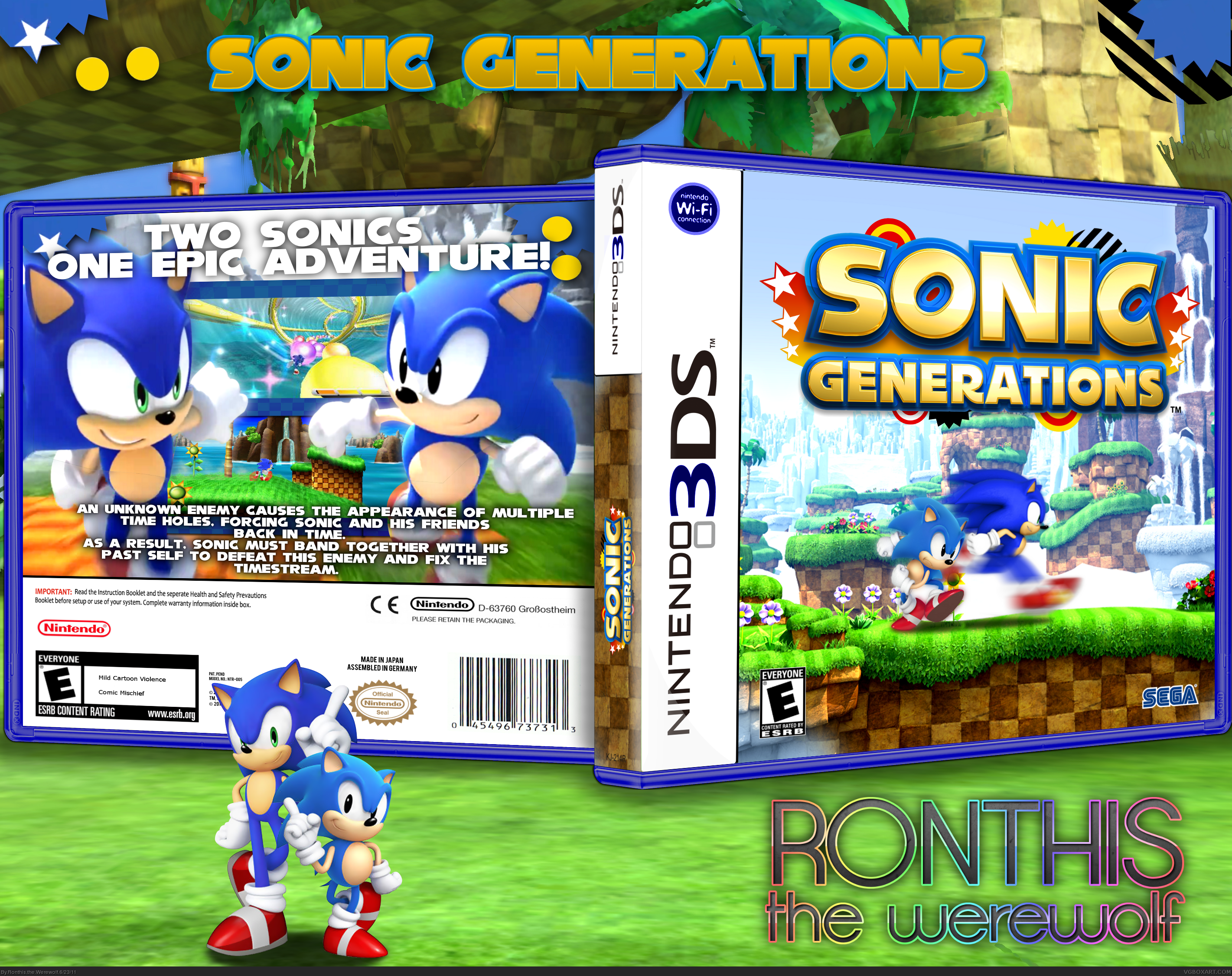 Sonic Generations Nintendo 3DS Box Art Cover by Ronthis the