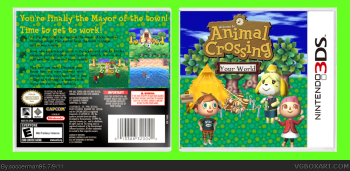 Animal Crossing: Your World Nintendo 3DS Box Art Cover by