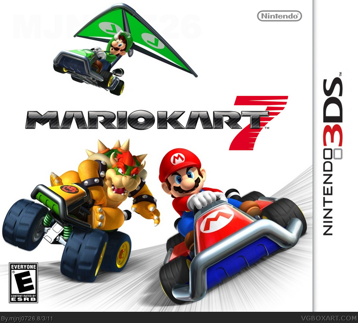 mario kart 7 nintendo 3ds box art cover by mjnj0726. Black Bedroom Furniture Sets. Home Design Ideas
