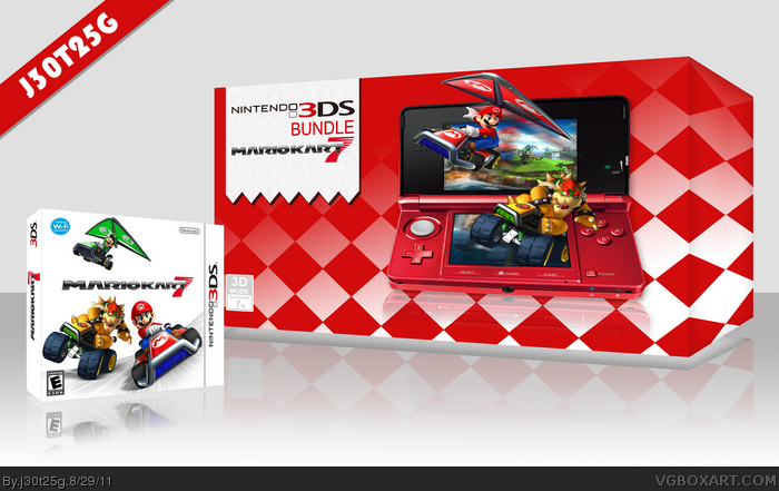 mario kart 7 bundle nintendo 3ds box art cover by j30t25g. Black Bedroom Furniture Sets. Home Design Ideas