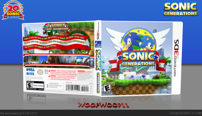 Sonic Generations Nintendo 3DS Box Art Cover by woopwoop11