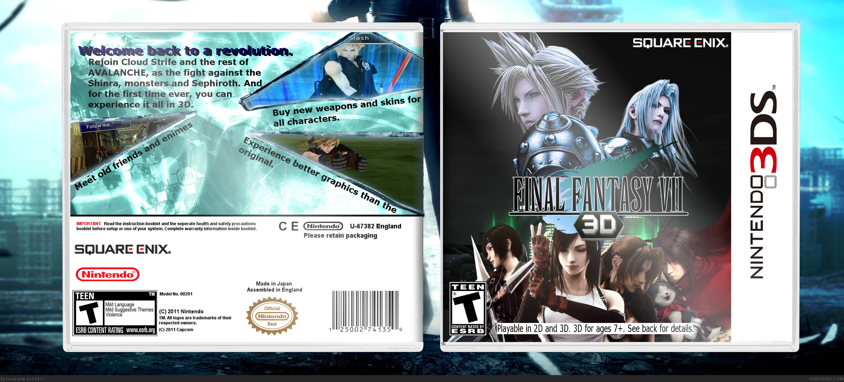 how to play final fantasy 7 on 3ds