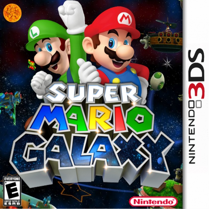 Nintendo 3ds Mario Games : Super mario galaxy d nintendo ds box art cover by luigi