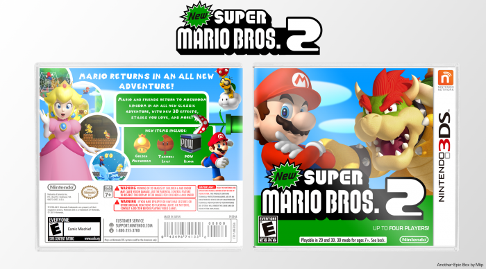 New Super Mario Bros  2 Nintendo 3DS Box Art Cover by Mtp