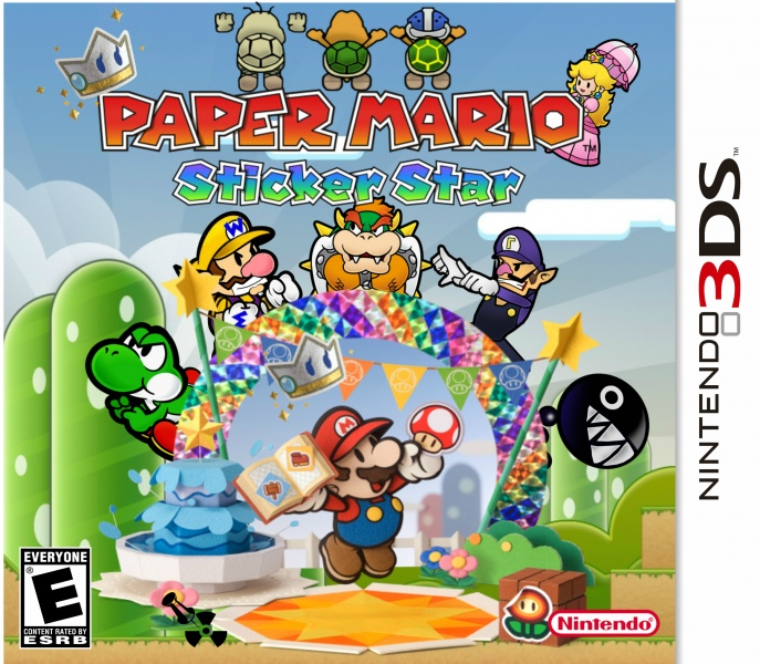 Nintendo 3ds Mario Games : Paper mario sticker star nintendo ds box art cover by