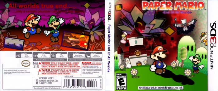 Paper Mario: End Of All Worlds box art cover