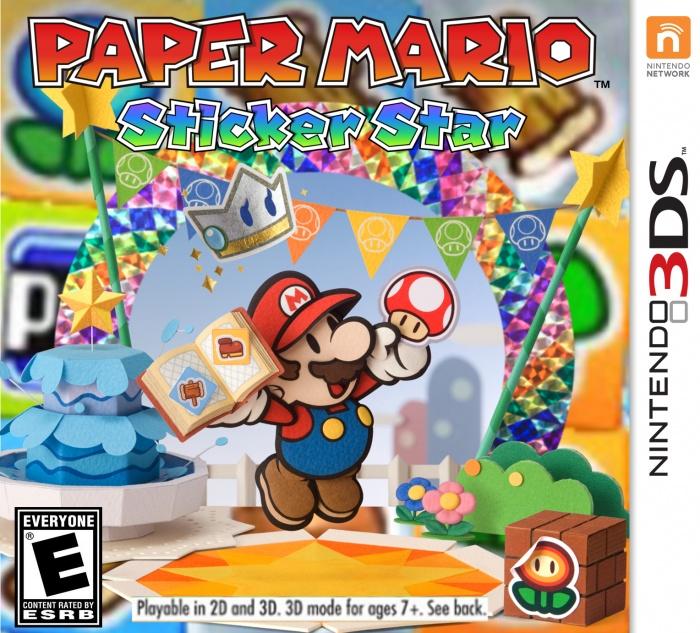 Paper Mario Sticker Star CIA 3DS USA