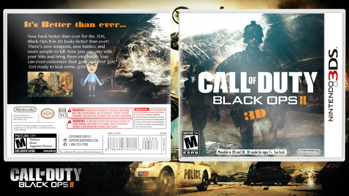 Call Of Duty 2 3ds : Call of duty black ops nintendo ds box art cover by swag