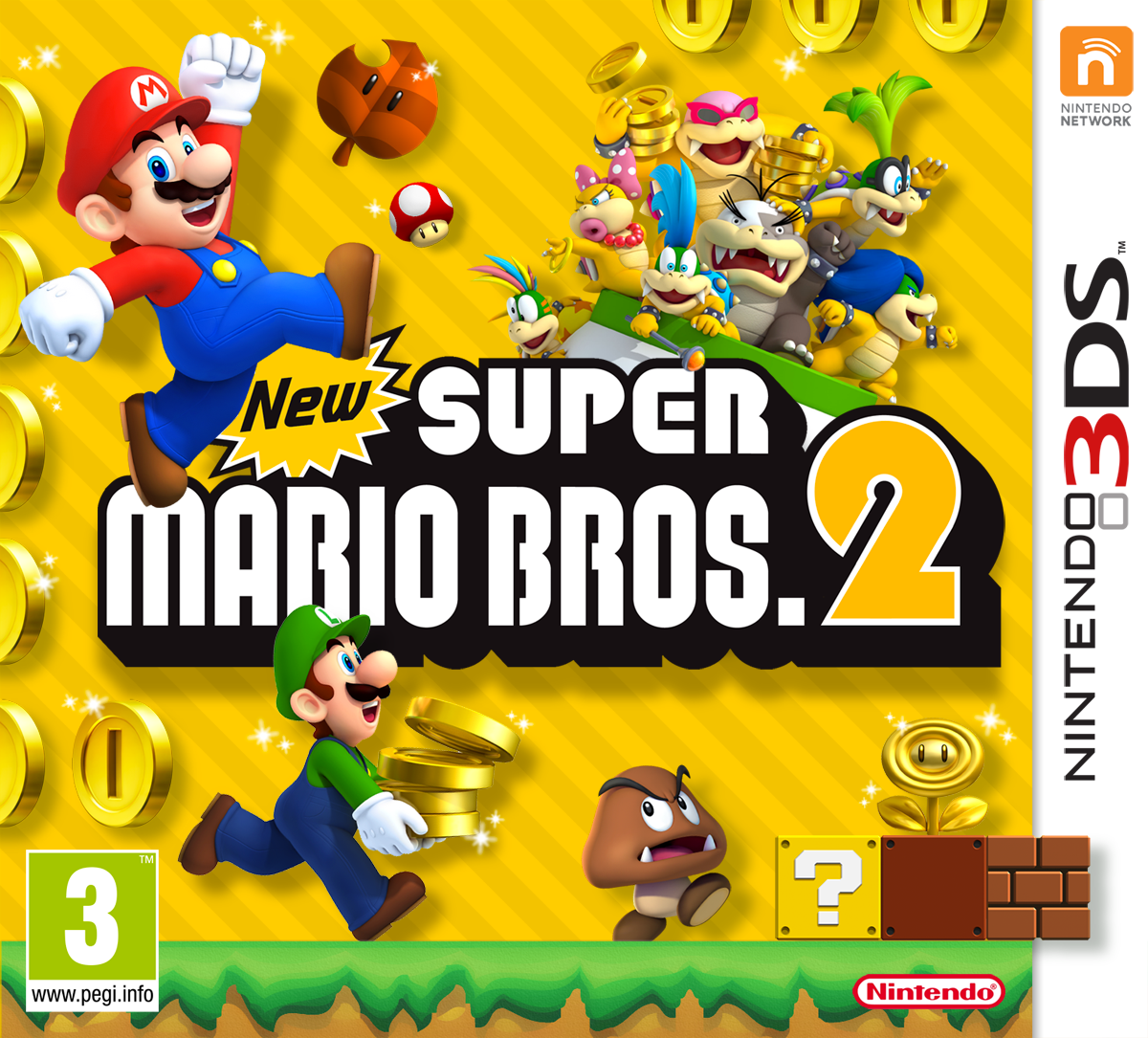 new super mario bros 2 nintendo 3ds box art cover by blak89. Black Bedroom Furniture Sets. Home Design Ideas