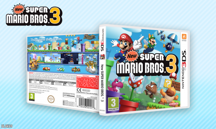 Nintendo 3ds Mario Games : New super mario bros nintendo ds box art cover by blak