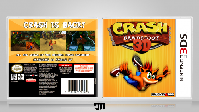 Crash Bandicoot 3d Nintendo 3ds Box Art Cover By Cmd