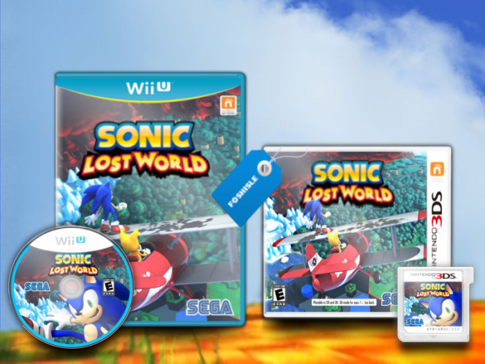 Sonic Lost World 3ds : Sonic lost world nintendo ds box art cover by foshisle