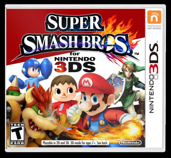 Super Smash Bros  3DS Nintendo 3DS Box Art Cover by Fuzzytalon