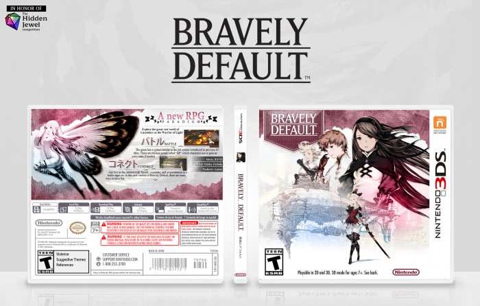 Bravely Default box art cover
