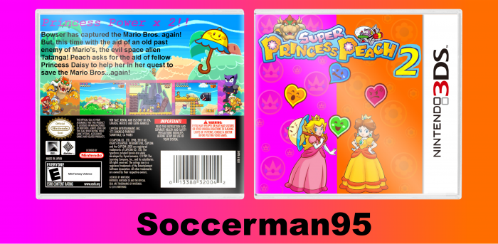 Super Princess Peach 2 Nintendo 3ds Box Art Cover By