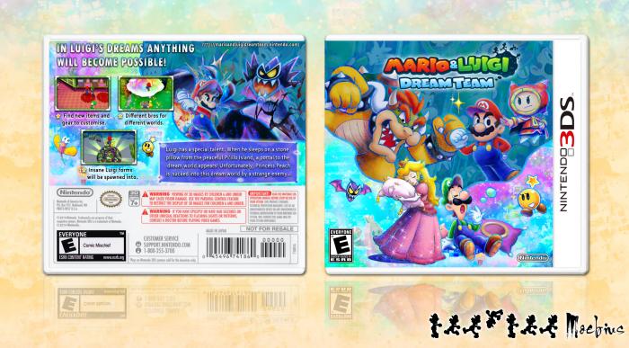 Mario Luigi Dream Team Nintendo 3ds Box Art Cover By Moebius
