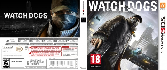 Watch Dogs Nintendo 3DS Box Art Cover by TheMonster38Fr Watch Dogs Ps4 Box Art