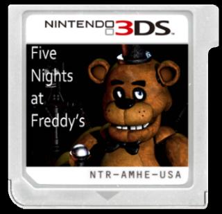 Five Nights At Freddy S Cartridge Nintendo 3ds Box Art