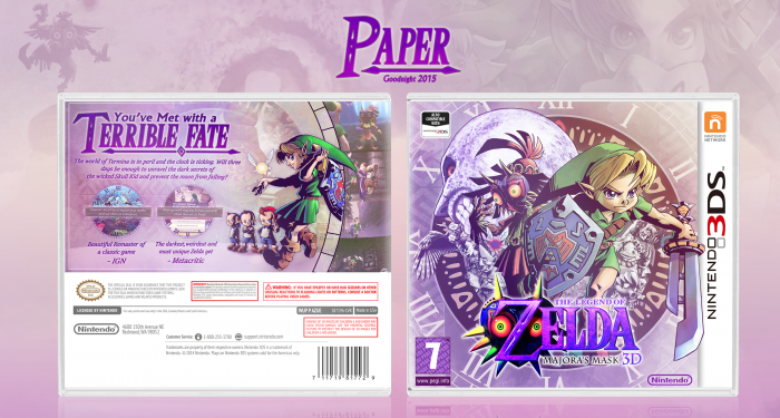 The Legend of Zelda Majora's Mask 3D box art cover