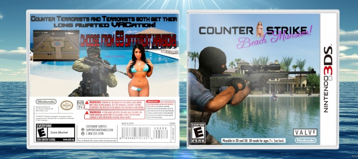 Counter-Strike: Beach Mansion Nintendo 3DS Box Art Cover by