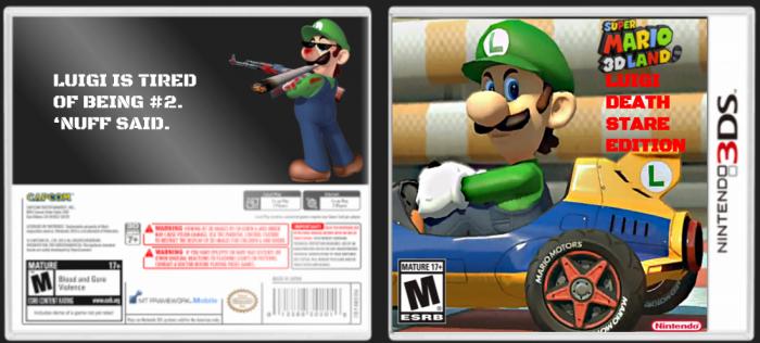 Super Mario 3d Land Luigi Death Stare Edition Nintendo 3ds