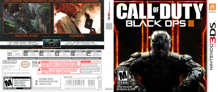 Call Of Duty 2 3ds : Call of duty black ops nintendo ds box art cover by