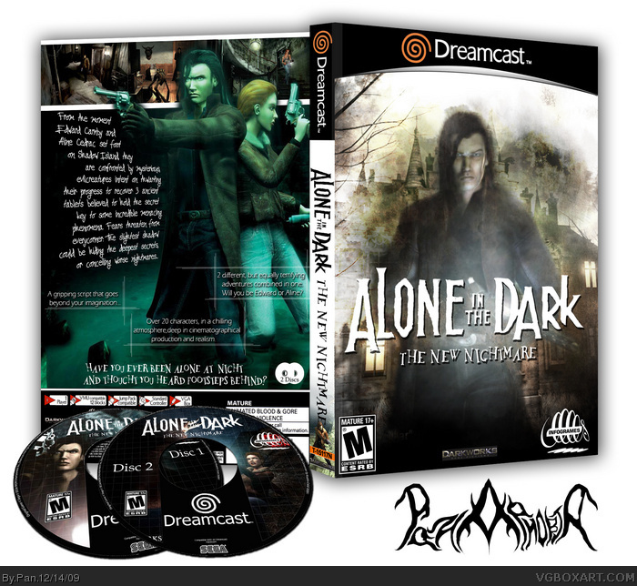 Alone In The Dark The New Nightmare Dreamcast Box Art Cover By Pan