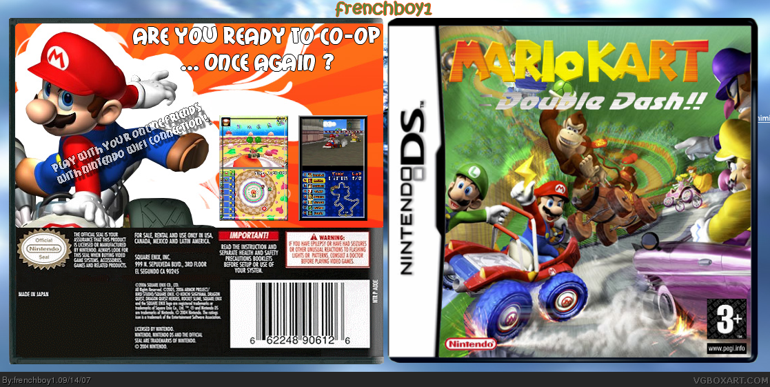 Mario Kart Double Dash!! DS Nintendo DS Box Art Cover by