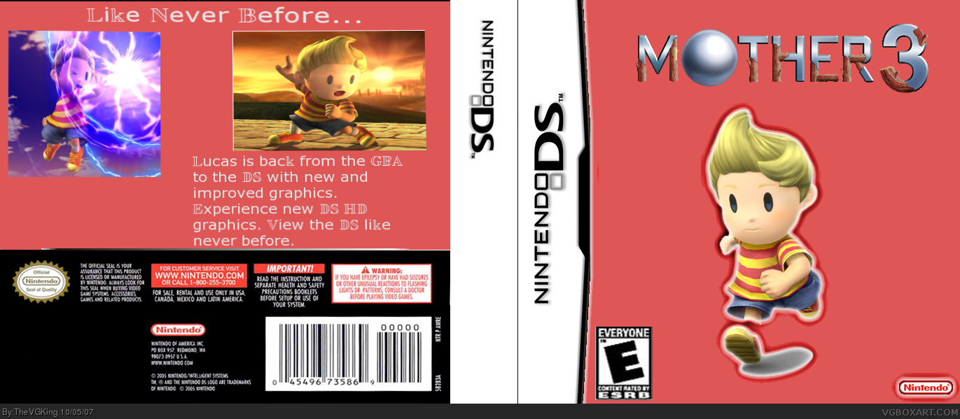 Mother 3 Nintendo DS Box Art Cover by TheVGKing