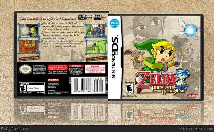 The Legend of Zelda: Phantom Hourglass Nintendo DS Box Art Cover by E_G