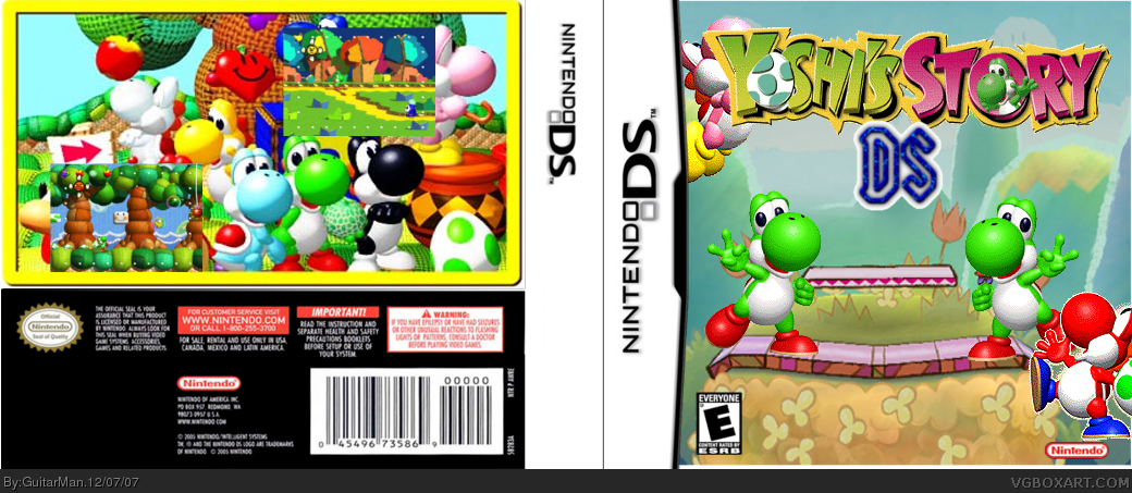 Yoshi's Story DS Nintendo DS Box Art Cover by GuitarMan