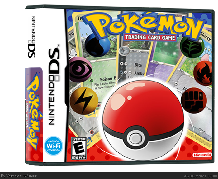 Nintendo Ds Pokemon Games : Pokemon trading card game nintendo ds box art cover by